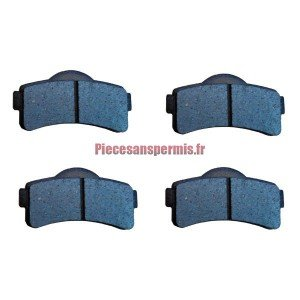 Set of 4 brake pads